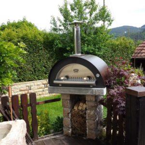 Pece na dřevo / plyn s přímým ohništěm (pizza pec)